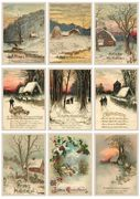 Leikekuvat A4 Vintage Christmas Greetings