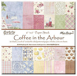 "Maja Design Coffee in the Arbour 6""x6"" Paper Stack"