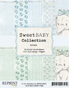 "Reprint Sweet Baby Collection Blue 6""x6"" Paper Pack"