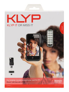 Klyp iPhone 4/4s case with 12 led